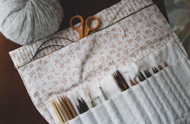 Tuto couture Trousse tricot aiguilles circulaires